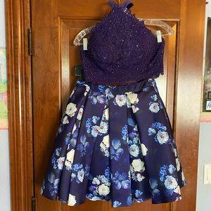 Two Piece Purple Dress